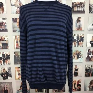 Brandy melville blue striped thermal long sleeve
